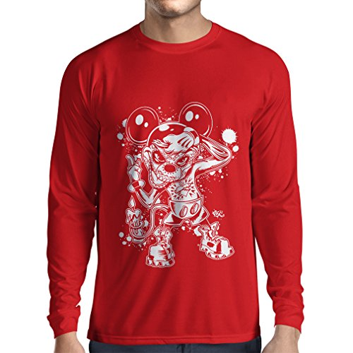 lepni.me Men's T-Shirt A Mouse with an Amazing Halloween Party Costume (Small Red Multi Color) -