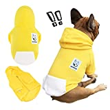 iChoue Pets Dog Clothes Hoodie Hooded French Bulldog Costume Pullover Cotton Winter Warm Coat Puppy Corgi Clothing - Yellow/Size S