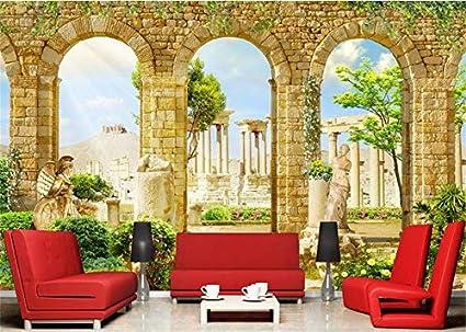 3D Fondo De Pantalla Griega Antigua Decoración De La Arquitectura Romana 3D Murales De Pared De