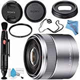 Sony E 30mm f/3.5 Macro Lens SEL30M35 + 49mm UV Filter + Lens Pen Cleaner + Fibercloth + Lens Capkeeper + Deluxe Cleaning Kit Bundle