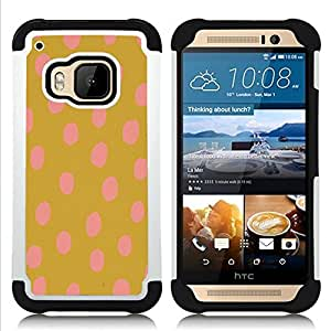 For HTC ONE M9 - gold brown vibrant animal pattern Dual Layer caso de Shell HUELGA Impacto pata de cabra con im??genes gr??ficas Steam - Funny Shop -