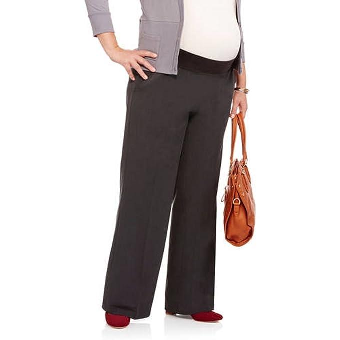 8c24443f0ed9ca Oh! Mamma Maternity Plus Size Demi-Panel Flared-Leg Career Pants (3X ...