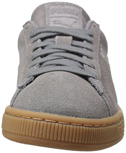 PUMA Mens Suede Classic Debossed Q4 Fashion Sneaker Steel Gray-peacoat y82HR