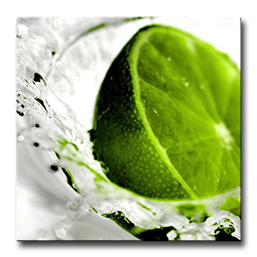 So Crazy Art Green Wall Art Painting Beautiful Creative Fruit Green Lemon In Water Splash Drops Prints On Canvas The Picture Food Pictures Oil For Home Modern Decoration Print Decor