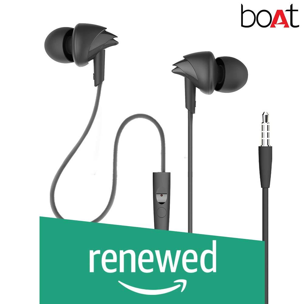 (Renewed) boAt BassHeads 100 in-Ear Headphones with Mic (Black) (B07BMPH84K) Amazon Price History, Amazon Price Tracker
