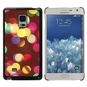 TopCaseStore / la caja del caucho duro de la cubierta de protección de la piel - Vivid Colors Night City Blur Yellow - Samsung Galaxy Mega 5.8 9150 9152