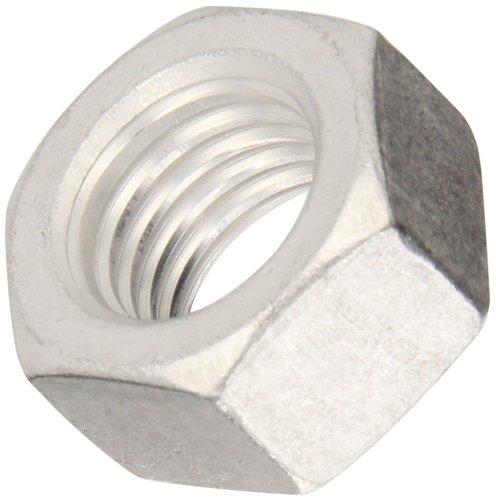 Plain Finish 1//4-20 Thread Size 3//16 Width Across Flats Aluminum Machine Screw Hex Nut 7//16 Thick ASME B18.6.3 Pack of 100