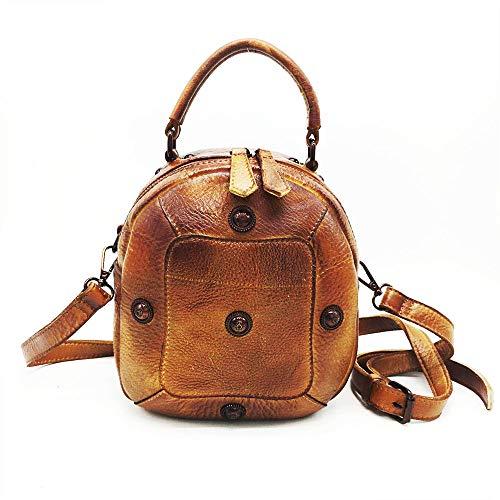 Xly borsa in di tracolla di pelle Borsa strato di mucca primo a Retro a di pelle a dipinta Vintage tartaruga mano mano qYX8qP