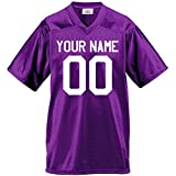 Custom Football Jersey for Youth and Adult you Design Online in Adult 3x-large in Purple