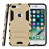 Kit Me Out CAN® Apple iPhone 7 Plus [Heavy Duty] Dual Layer [Drop Protection/Shock Absorption Technology] Protective Case Cover Skin Pouch - Gold