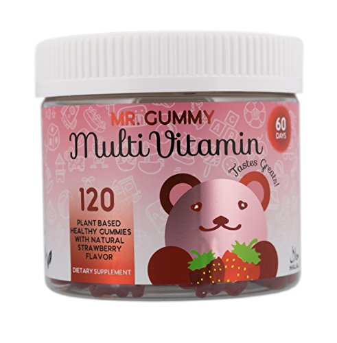 Mr Gummy Vitamins Multivitamin Strawberry Flavor Gummies Natural & Delicious | Promote Health & Wellbeing with Vitamins & Minerals | [120 Gummies, 60-Day Supply] | Kids Vitamins Review