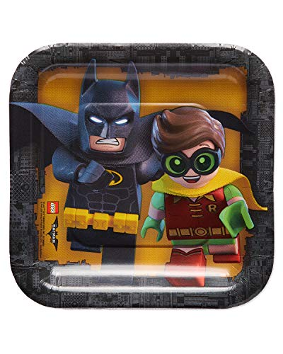 American Greetings Lego Batman Party Supplies, Paper Dessert Plates, 40-Count -