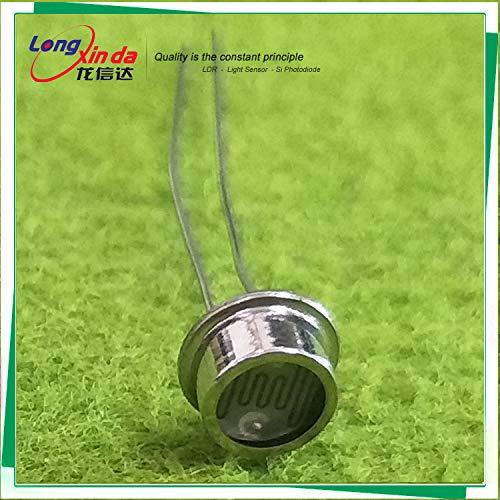 25 Piece Photoresistor (High-Precision) Hermetic Photocell 6.5MM LDR Resistor 100-200kohm Light-Dependent Photoresistor Optoresistor (LXD6549B)