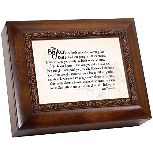 Cottage Garden Broken Chain God Called Home 8 x 4 inch Wood Finish Ashes Memorial Urn Box from Cottage Garden