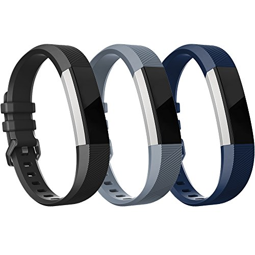 Fitbit Alta HR Bands Fitbit Alta Band Pack of 3(Black,Grey,Navy Blue)Small,RedTaro Adjustable Replacement Accessory Bands/Straps for Fitbit Alta HR/Fitbit Alta for Women/Men(no Fitbit Fitness Tracker)
