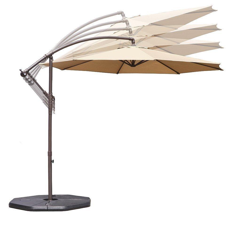 Amazon Com Le Papillon 10 Ft Offset Hanging Patio Umbrella