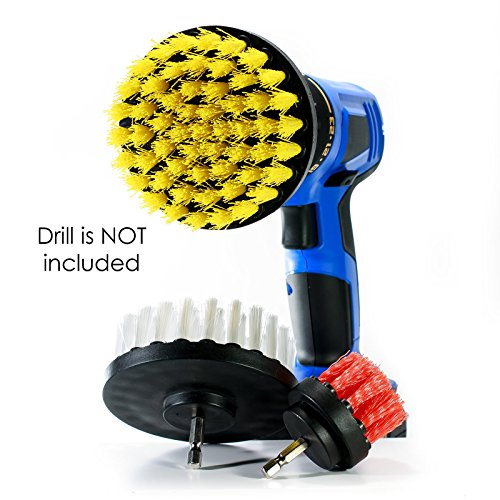 Price comparison product image Power Scrubbing Brush Drill Attachment for Cleaning Showers,  Tubs,  Bathrooms,  Tile,  Grout,  Carpet,  Tires,  Boats