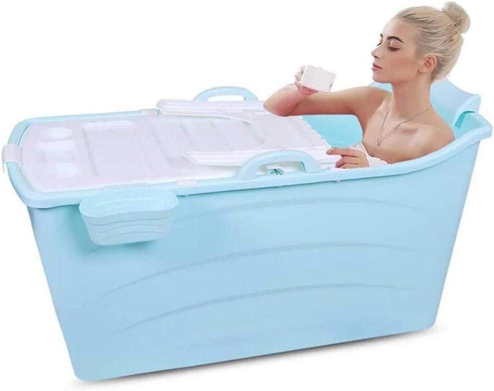 Vasca da bagno pieghevole vasca portatile Ampliación de la tina de baño barril adulta que sostiene Baby Sit Lie Piscina Bañera Lavabo grueso plegable cubo con una tapa plegable portátil Bañera Natació