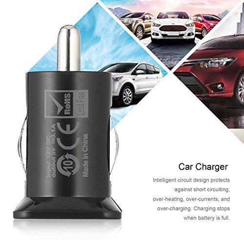 Swiftswan 2 puertos Mini Universal Dual USB adaptador de cargador de coche Bullet 5V 2.1A + 1A (Color negro): Amazon.es: Coche y moto