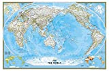 World Classic Pacific Centered Enlarged Wall Map Material: Paper