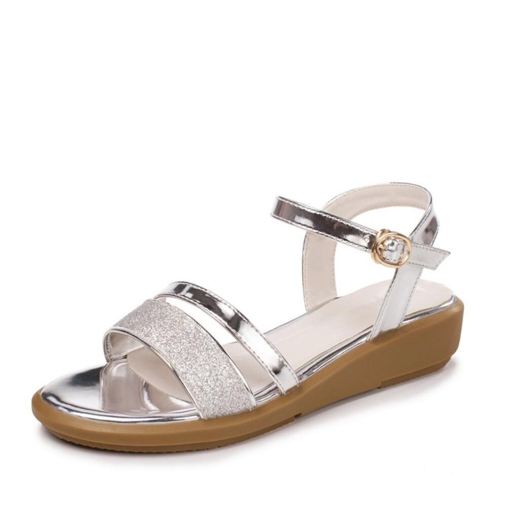 5cd17b2dc4c92d Télévision Sandales Femme en Cuir Souple avec Simple Mode Chaussures pour  Femmes: Amazon.fr: Chaussures et Sacs