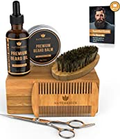 Naturenics Premium Beard Grooming Kit for Mens Care - 100% Organic