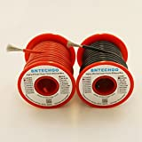 BNTECHGO 14 Gauge Silicone Wire 50 feet Spool[25 ft Black And 25 ft Red] High Temperature Resistant Soft and Flexible 14 AWG Silicone Wire 400 Strands of Tinnde Copper Wire