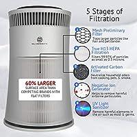 Silveronyx purificador de aire con True HEPA filtro, Alérgenos y olor limpiador de reducción, UV, mejor hogar Filtro de aire para las alergias, mascotas, polvo, los fumadores, cocina: Amazon.es: Amazon.es