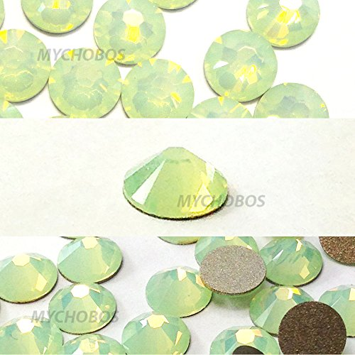 - CHRYSOLITE OPAL (294) green Swarovski 2058 Xilion Rose 9ss 2.6mm flatback No-Hotfix rhinestones ss9 nail art 144 pcs (1 gross) *FREE Shipping from Mychobos (Crystal-Wholesale)*