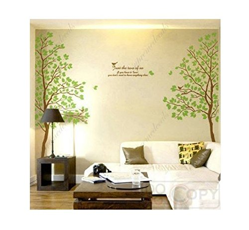 Amazon.com: Large Tree Flying Black Birds with Quote Wall Sticker ...