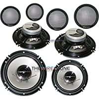 Pioneer TS-G1644R G Series 2-Way 1000 Watt 6-1/2 Coaxial Car Audio Speaker (2 pairs)