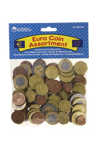 Coin Euro Sets (Learning Resources Mixed Euro Coins Set by ToyCenter)