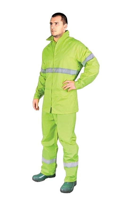 Rainer Amarillo Alta Visibilidad Impermeable Nuevo Impermeable Chaqueta Pantalones Juego de Hombre Abrigo de Lluvia Alta Visibilidad Medium