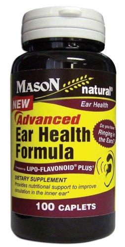 Vitamines Mason nouvelle avance Caplets Formule oreille de santé, 100-Count Bottle