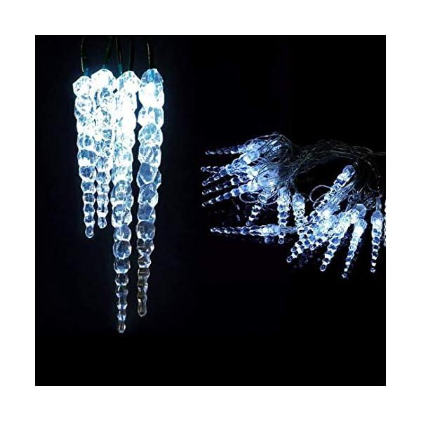 XMASKING Catena 8 m, 40 LED Blu con Decorazione Ghiaccioli, Cavo Verde, Decorazioni Luminose, luci di Natale, luci Decorative, Catene Luminose, luci Natalizie, Effetto Ghiaccio 1 spesavip