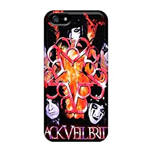 Iphone 5/5s YMy836fvVD Customized Vivid Black Veil Brides Pattern Protector Cell-phone Hard Covers -RudyPugh