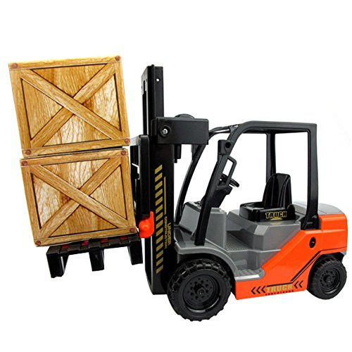 SINACO 1:22 Scale Fork Life with Pallets Large Toy Truck Inertia of Combustion Forklifts 8188-17