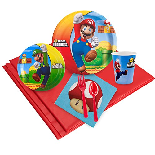 BirthdayExpress Super Mario Bros Party Supplies - Party Pack for 24 -