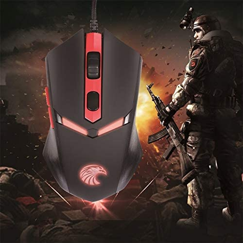 ZicHEXING USB Wired Gaming Mouse Z-7600 Professional Led Backlight 6 Buttons Optical 1000//1600//2000 Dpi Adjustable for Pc Laptop