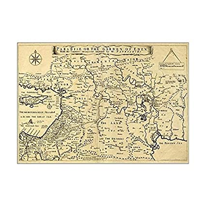 Amazon.com: Media Storehouse A1 Poster of Middle East Ancient Map ...