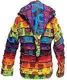 SHOPOHOLIC FASHION Children Pixie Colorful Hippie Striped Hoodie Hippy Boho Kids Sweater Jacket (XL,Owl)