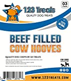 123 Treats - Filled Cow Hooves - Delicious Beef