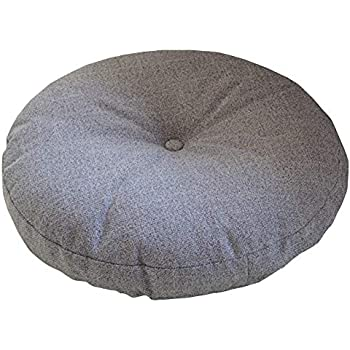 Novwang TMJJ Natural Linen Round Floor Pillow Seating Cushion with Removable Zippered Cover Room Décor Pouf for Meditation, Yoga