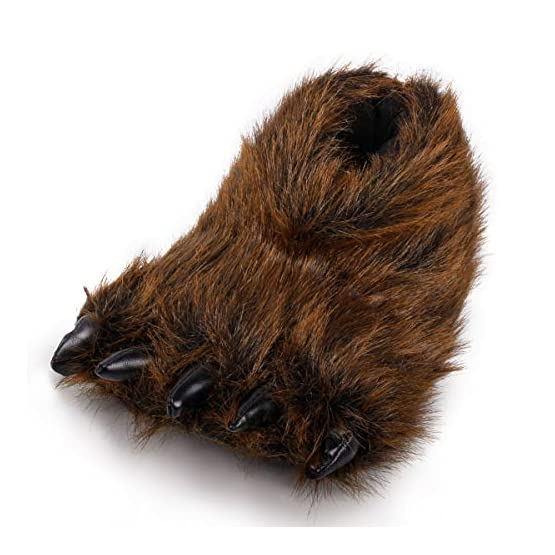 Bear Slippers With Claws | Fluffy Kawaii Slippers 6