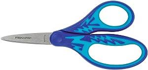 Fiskars 194330-1007 Left-Handed Kids Scissors, 5 Inch, Blue Lightning