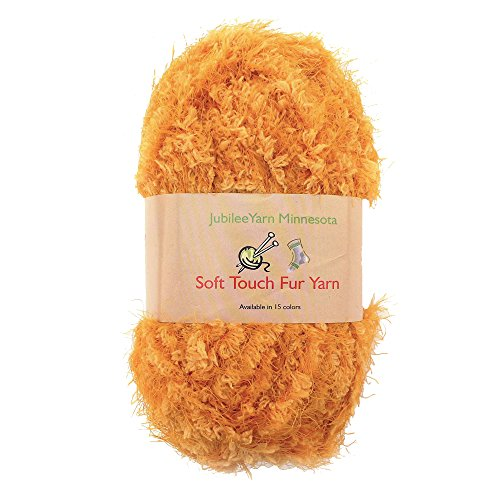 JubileeYarn 100g Soft Touch Fuzzy Fur Yarn, Butterscotch 2 Skeins ()