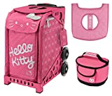 Zuca Hello Kitty Pink Luxe Bag, Pink Sport Frame, w. Lunchbox and Seat Cushion
