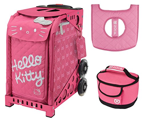 Zuca Hello Kitty Pink Luxe Bag, Pink Sport Frame, w. Lunchbox and Seat Cushion by ZUCA