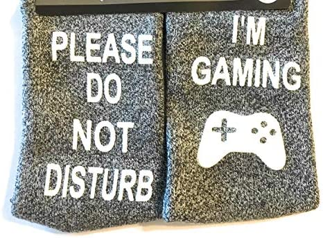 Im Hugely Obsessed with Gaming Game Controller printed Mens Black Cotton Socks
