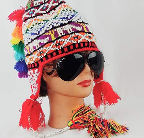 - Alpaca beanie chullo Hat unisex